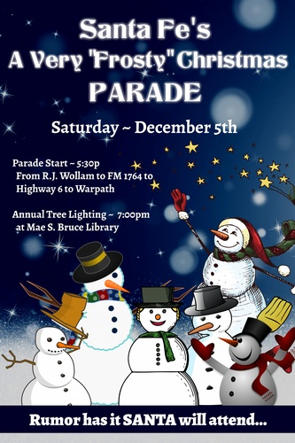 Christmas Parade Christmas In The Park 2020 Dec 5 2020 Santa Fe Texas Chamber Of Commerce Inc Tx