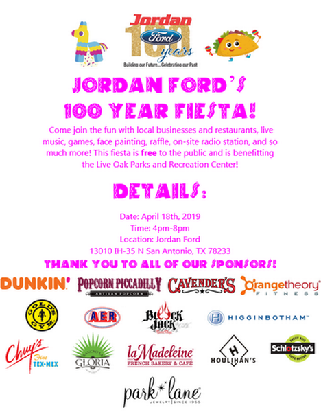 Jordan Ford San Antonio >> Jordan Ford 100 Year Fiesta Event Apr 18 2019 The