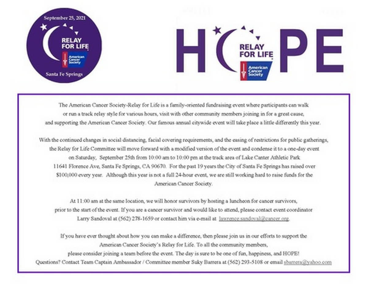 Relay for Life 2021
