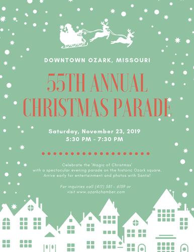 Ozark Christmas Parade 2019 55th Annual Ozark Christmas Parade   Nov 23, 2019   Events