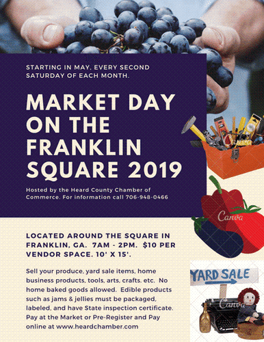Market Day on the Franklin Square - Aug 10, 2019 - Heard County