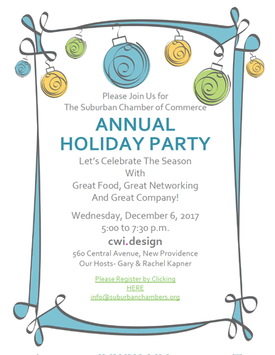 Suburban Chamber of Commerce Holiday Party 2017 @ CWI.DESIGN | New Providence | New Jersey | United States