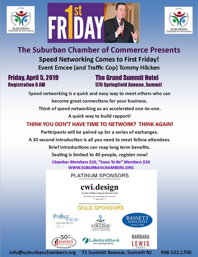 Suburban COC First Friday - Speed Networking! @ The Grand Summit Hotel
