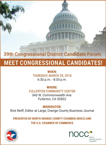NOCC Forum - 39th Congressional District Candidates