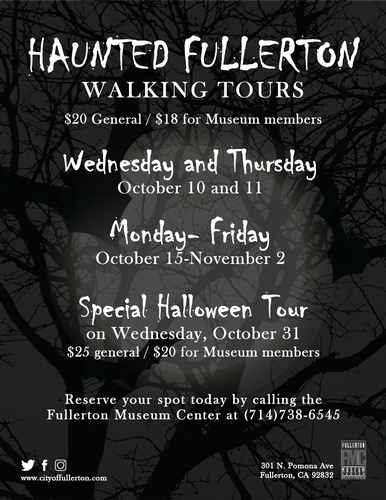 fullerton museum center haunted fullerton walking tours