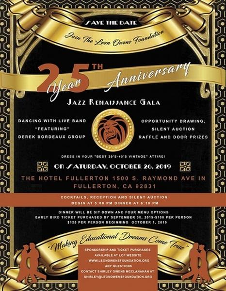 Leon Owens Foundation - 25th Anniversary Jazz Renaissance