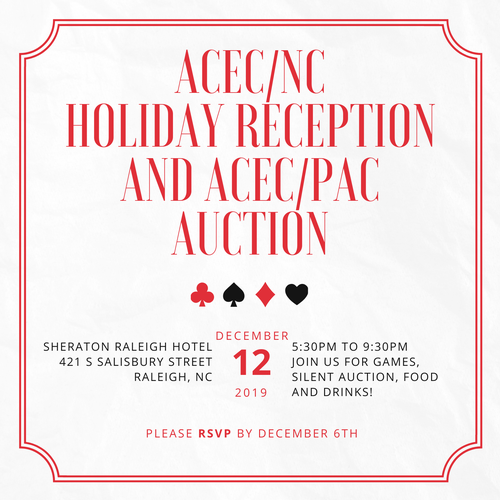 ACEC/NC Holiday Reception and ACEC/PAC Auction 2019