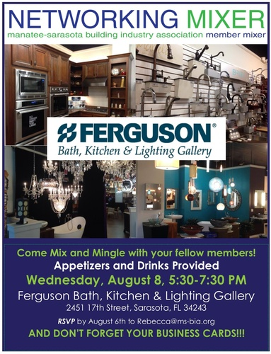 Member Mixer At Ferguson Bath Kitchen Lighting Gallery Aug - Ferguson bath kitchen and lighting gallery