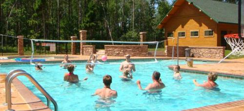 In addition to great beaches, some lodging properties also have pools, community rooms and great playgrounds.