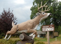 Leaping Deer Statue, Deerwood