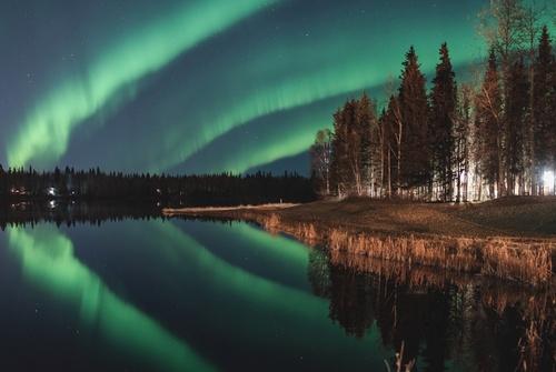 Aurora Borealis over Chena Lakes