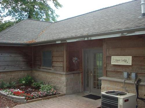 Knoer Lodge is available for rent from 8am-11pm.