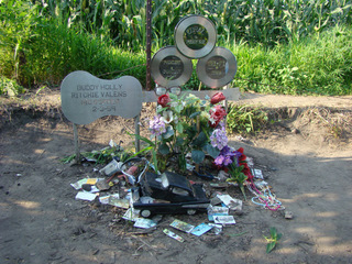 Visitors leave tokens at the crash site.