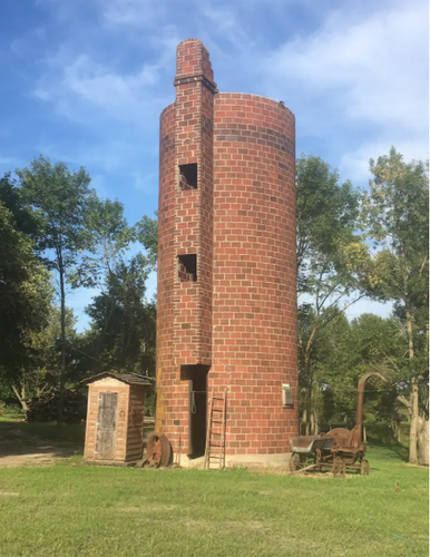 Silo complete with ladder to top for exceptional view
