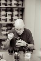 John in the cupping room.