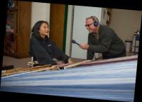 Greg interviewing weaver