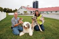 Bill & Linette Pouquette with some of their furry family.