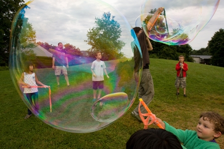 Bubbles are a staple at Camp Common Ground.