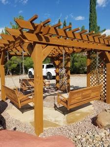 We build pergolas