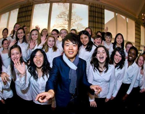 MYA vocal students with international music icon Lang-Lang