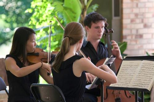 MYA Summer Program chamber music students perform at the Chicago Botanic Gardens
