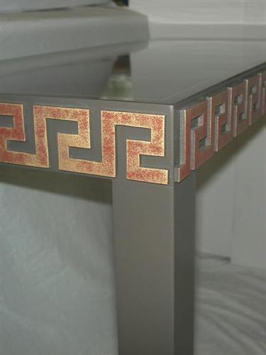 Specialty Finished Greek Key Table