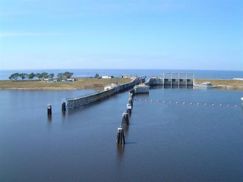 Lake Okeechobee Lock into the Lake