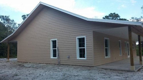 New 3/2 Ranch style home, exterior almost complete