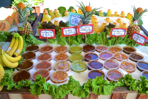 Daily fresh salsas and sauces