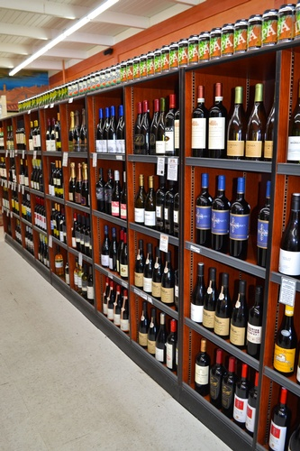 Fine selection of wines