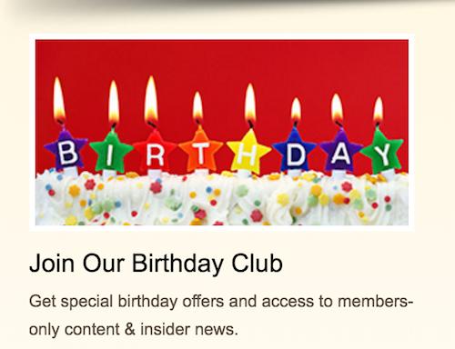 Old Spaghetti Factory San Marcos CA Birthday Rewards Club!