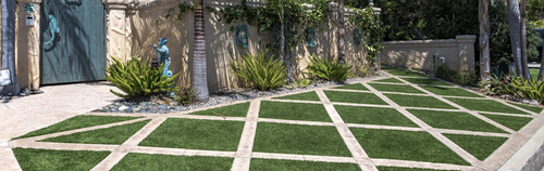 Easy Turf Backyard Grass Landscaping Design