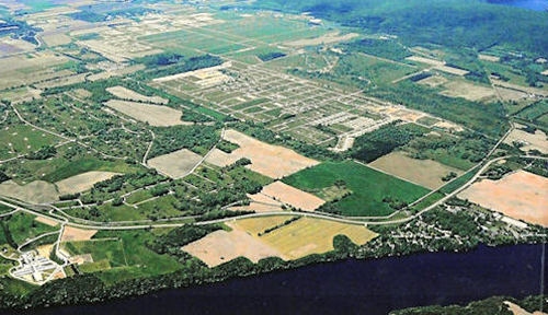 Sauk Prairie Recreation Area aerial view