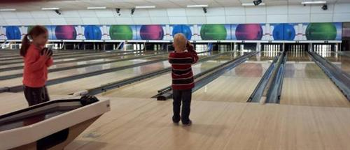 Bumper bowling for the little ones!
