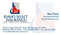 Idaho Select Insurance LLC - Ben Mock