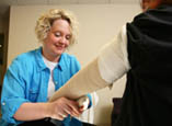 The Providence Rehabilitation Services department has staff specially trained in lymphedema rehab.