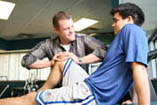Providence has athletic trainers and specially trained physical therapists who work with area athletes.