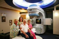 A patient with the Providence Radiation Oncology team.