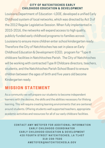 child care mission statements