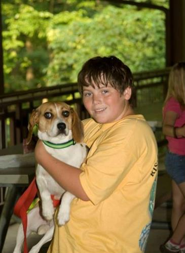 Canine friends have a place here at Lake Accotink Park