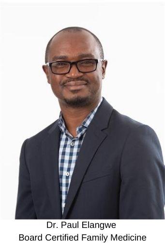 Dr. Paul Elangwe - Board Certified Family Medicine