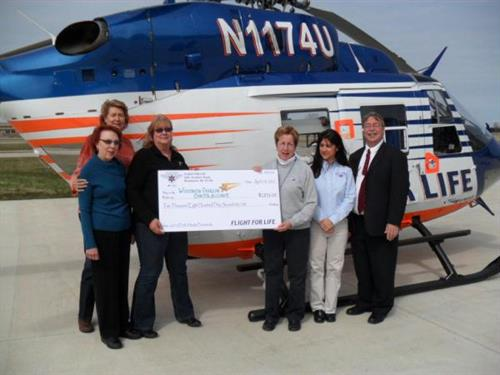 Donation to WOCA from Flight for Life