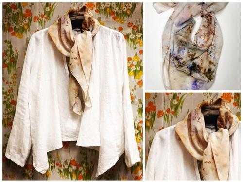Linen and silk