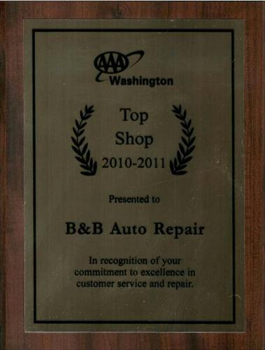 Thanks to our great customers we were awarded AAA's top shop for the second year in a row!