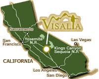 City of Visalia on the map