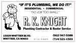 R.K. KNIGHT PLUMBING