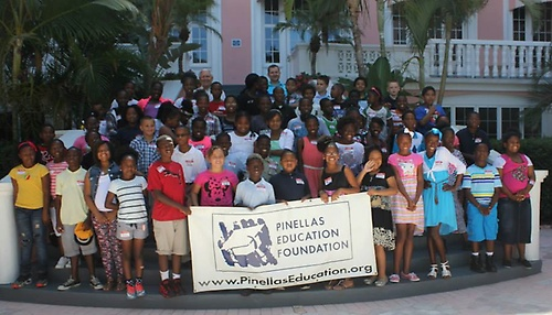 Campbell Park Elem. Students attend Mural Dedication at Don CeSar