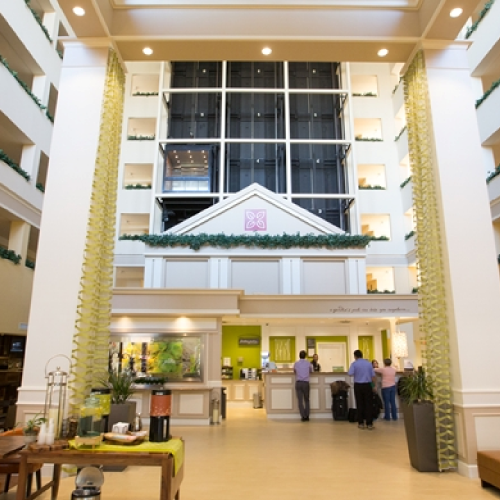 Lobby and Front Desk with Seating Areas