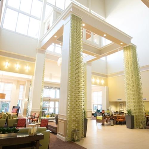 Hotel Atrium with Front Desk