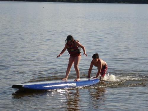 New paddleboards at beach area, plus canoes, kayaks, paddleboats...Free